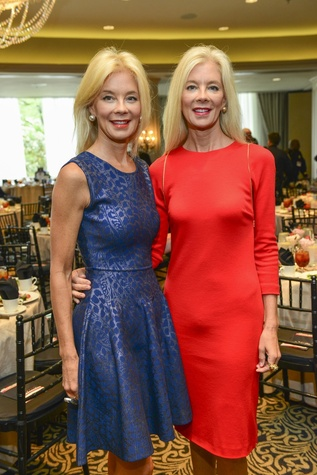 Tena Lundquist Faust, left, and Tama Lundquist at the Crime Stoppers luncheon May 2014