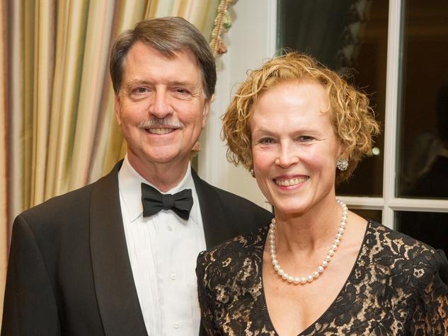 Geoffrey Walker and Ann Kennedy at the Preservation Houston Cornerstone Dinner February 2014