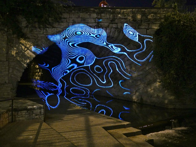 Waller Creek Show 2015 AT/x Luke Savisky 7th Street Bridge rendering 1