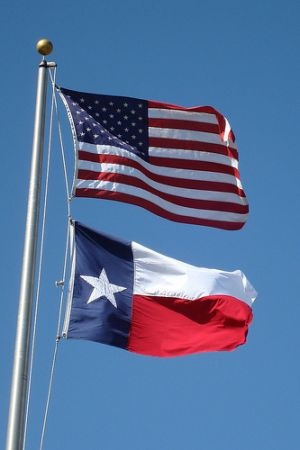Texas flag, secession, U.S. flag