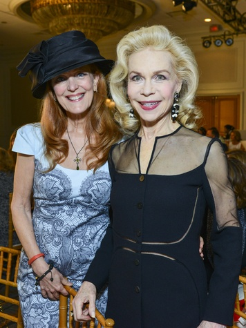 24 Gracie Cavnar, left, and Lynn Wyatt at the Best Dressed luncheon March 2014