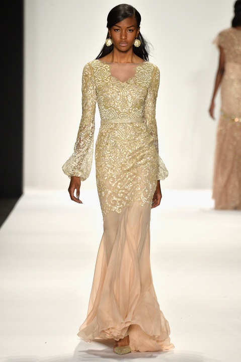 Badgley Mischka evening gown fall 2014 collection