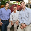 5 Gabe Canales, from left, Ed Persia and Carl Nickel at the CultureMap Social at Boheme September 2014