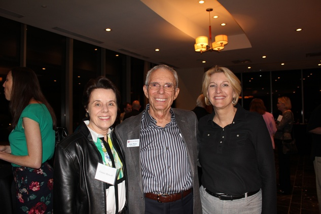 Ginni Mithoff, from left, John Mann and Sherri Cothrun at the Jane's Due Process fundraiser February 2015