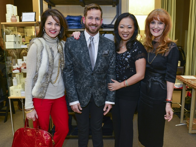1 Jessica Rossman, from left, Jeff Shell, Miya Shay and Gracie Cavnarat Dress for Dinner February 2014