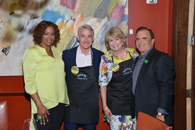 4S Deborah Duncan, from left, Tom Koch, Jan Carson and Tim Connolly at the Emerald City ESCAPE Celebrity Serve Benefit April 2014