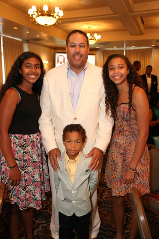 News, Shelby, Morehouse College Father's Day event, June 2015, Morehouse Grad Joel Hardy III and his children