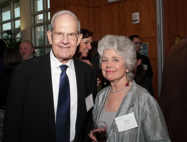 Clint Willour, Betty Moody at UH School of Art fundraiser April 2014