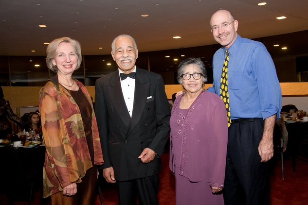 Carol Shattuck, from left, Dr. Thomas Freeman, Esther Campos and Mike Feinberg at the ADL Houston in Concert Against Hate November 2013