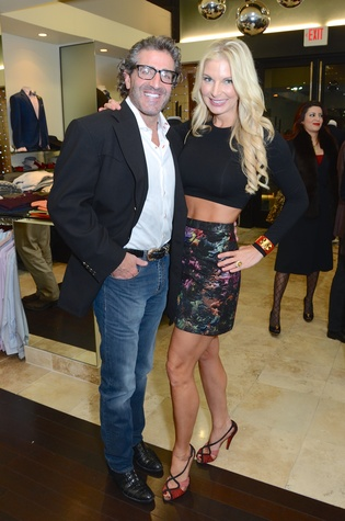 Patrick Levantino and Dr. Romy Mitchell at the Festari Holiday Party December 2014