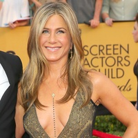 Justin Theroux and Jennifer Aniston in vintage Galliano gown at Screen Actors Guild Awards
