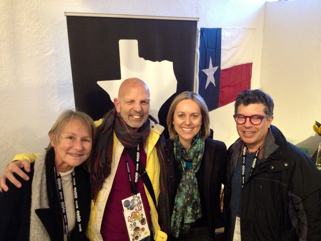 Jane Howze, Clifford Pugh, Heather Page, Richard Herskowitz at Texas Film party at Sundance Film Festival January 2014
