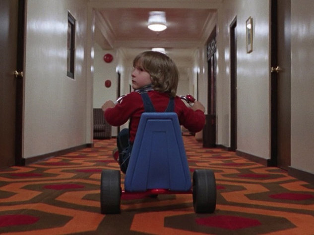 Room 237 child on big wheel The Shining