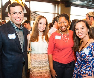 Books & Bellinis Inprint's Young Professionals Mixer April 2013 Seth Kretzer, Meredith Moore, Anita Barksdale, and Host Committee Member Courtney Carlson