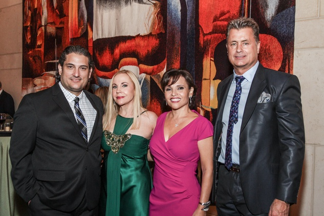 Alfredo Scaroina, from left, Carolyn Farb, Lucia Cordua and Ken Christie at the Bering Omega's Sing for Hope Event October 2014