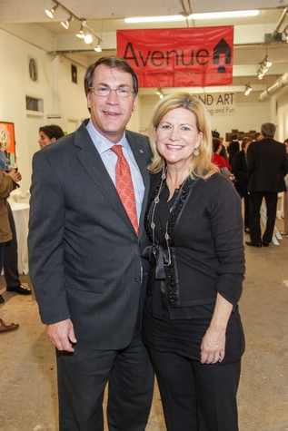 12 Mark and Maura Montgomery at the Art on the Avenue benefit November 2014