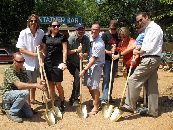 Austin Photo Set: News_Kevin_groundbreaking_July 2011_shovels