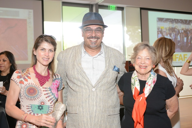 9 Hadia Mawlawi, from left,  Hamza Sarafi and Wendy Watriss at the HFAF Launch at the Asia Society June 2014