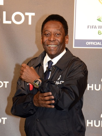 Hublot official watch of the 2014 FIFA World Cup soccer March 2014 Pelé