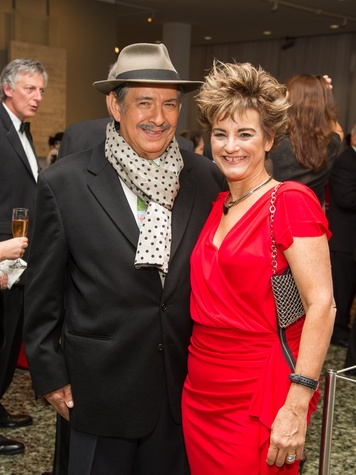 Miguel Angel Ríos and Mari Carmen Ramirez at the MFAH Latin American Experience November 2013