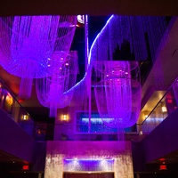 chandeliers at Chandler Parsons' birthday at Mr. Peeples October 2013