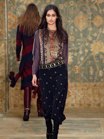 Clifford Fashion Week New York fall 2015 Tory Burch March 2015 Look 19