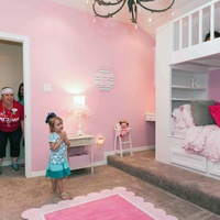 Gracepoint Homes and Keller Williams home renovation surprise May 2014 Princess room