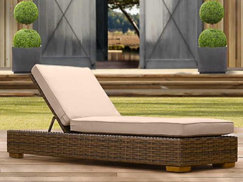 Make the most of the warm weather in a new lounger for Antigua wicker chaise