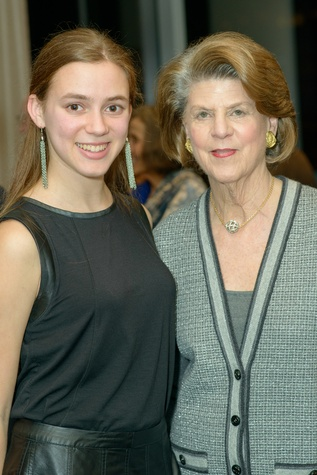 Zoe Margolis, left, and Judy Margolis at the Houston Symphony POPS Event with Steven Reineke & Sutton Foster February 2015