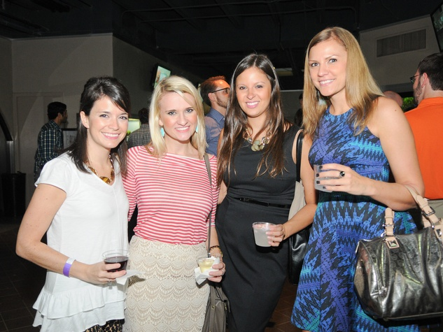 9883 Kaitlyn Hebert, Meg Schulz, from left, Selena Sykowski and Nicole Hopkins at the Scales and Cocktails Houston Zoo Flock event
