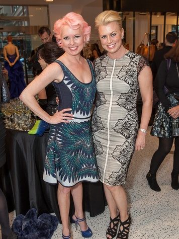 11. Vivian Wise, left, and Debbie Pakzaban at the Little Black Dress designer kick-off party and fashion show March 2014