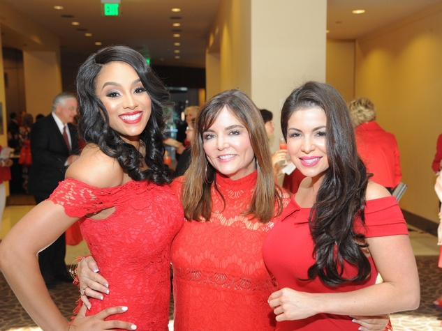 Go Red for Women luncheon Ashley Peterson, Beth Cassidy, Crystal Saldivar