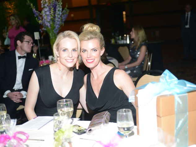 Kathleen Jennings, left, and Katie Flaherty at the JDRF Gala April 2014