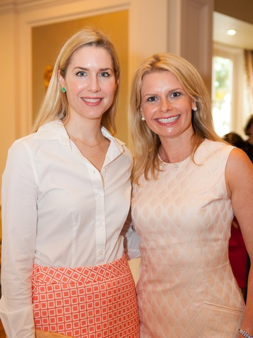 Audrey Cochran, left, and Valerie Dieterich at the DePelchin Children's Center luncheon April 2014