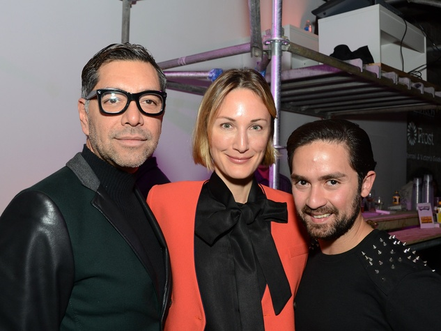 17 Ceron, from left, Tatianna Massey and Tarek El-bjeirmi at Diverseworks' Fashion Fete
