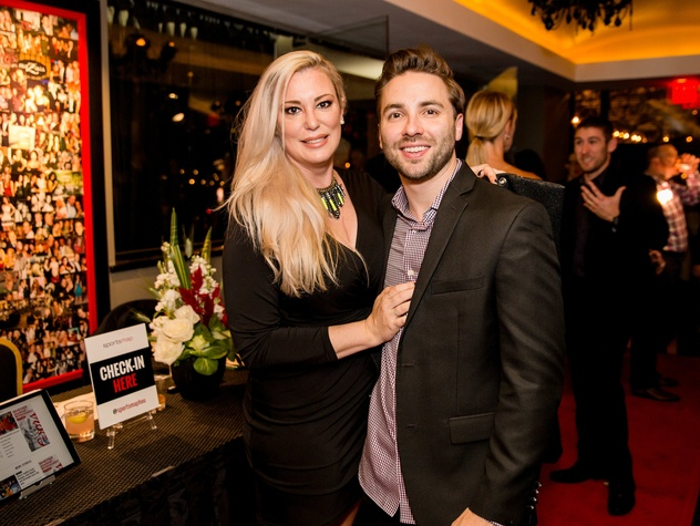 Houston, SportsMap launch party, October 2017, Jennifer Muller, Brandon Strange