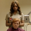 Laverne Cox cutting hair Orange is the New Black