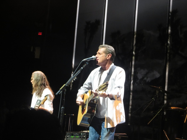Glenn Frey and Timothy B. Schmit perform at Eagles concert