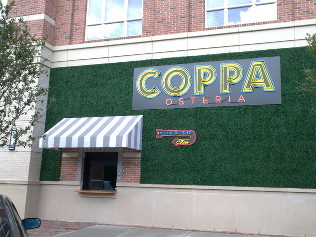 Coppa Osteria September 2013 exterior with neon sign
