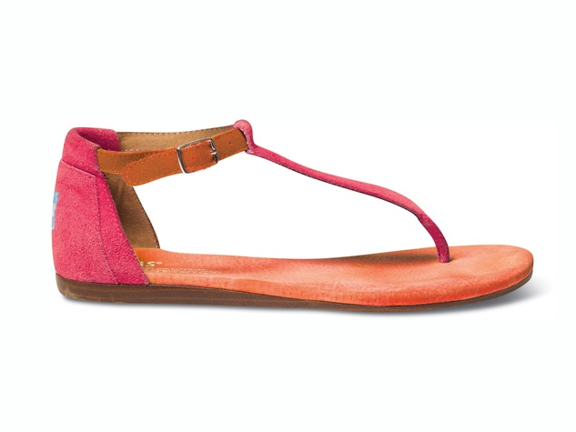 TOMS Sp14-W-Pink Mix Playa Sandal