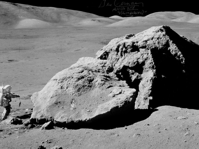 space sale, moon boulder photograph