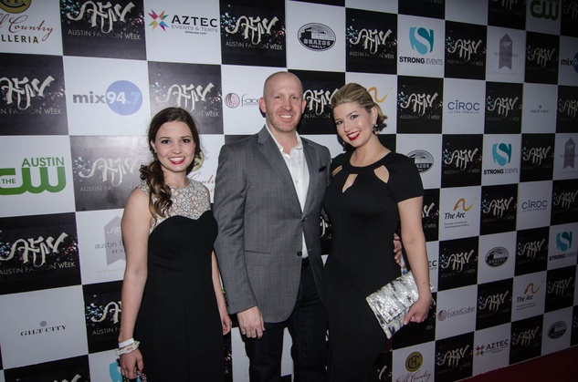 AFW Award show Mallory Baysek, James Leasure and Courtney Clark