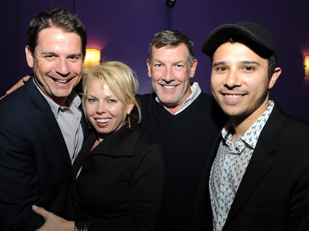 Houstonians in NY, October 2012, Mark Addison, Tammy Dowe, Neal Hamil, Dustin Mansyur at Collector's Waltz screening and release in NY