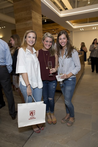 Houston, Saint Bernard opening party, April 2016, Brandi Armstrong, Maria-Eleni Koinis, Sarah Schmidt