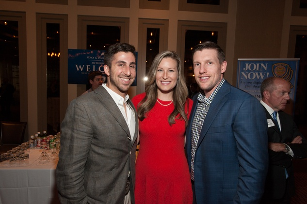 Jay Zeidman, left, with Bethany and Ben Buchanan at the Houston Police Department benefit April 2015