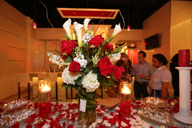 2733 Floral arrangement by Lexis Florist at the Crimson grand opening party July 2014