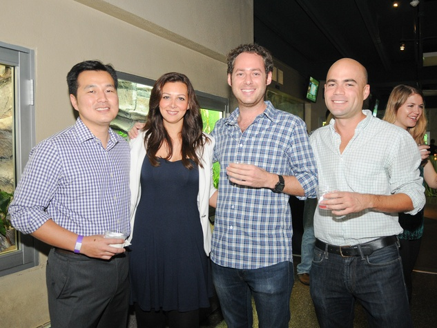 9868 Jimmy Wu, from left, Adileh Kassai, Luis Cuesta and Federico Sanchez at the Scales and Cocktails Houston Zoo Flock event