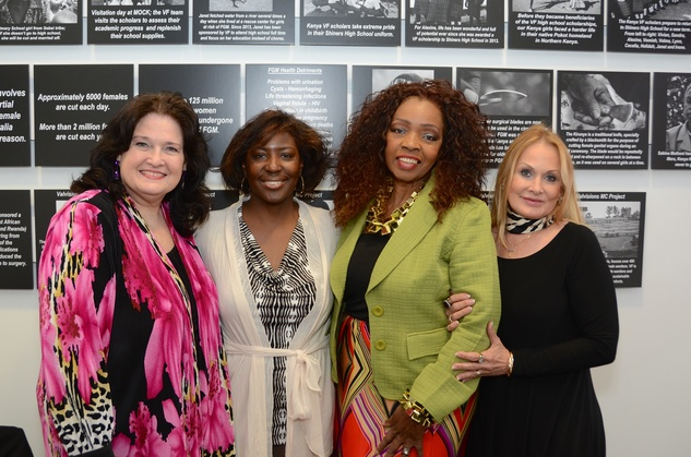 "Betty Lynne, from left, Annette Murray, Charlotte Jolivet and Donna Valverde at the Valvisions Foundation ""Cinema, Canvas & Cuisine"" March 2015"