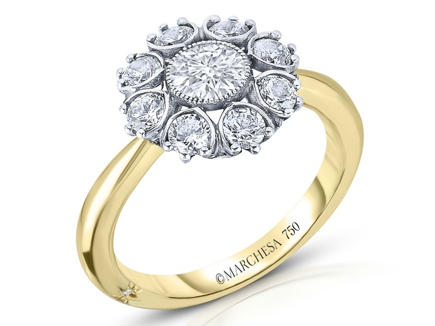 Marchesa 9 star filagree engagement ring