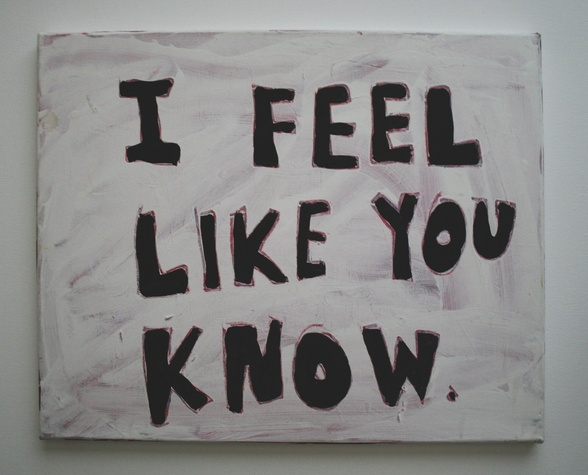 I Feel Like You Know by Christie Blizard